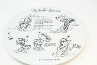 Disney SKETCH BOOK Minnie Mouse Dinner Plate 6696109 New