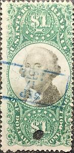 Scott #R144 1872 US $1.00 Washington Revenue Stamp