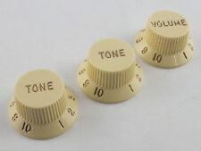 Genuine FENDER STRATOCASTER KNOBS AGED WHITE (Cream) 0991369000