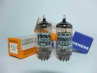 One PAIR (2 Pcs) NOS SIEMENS E82CC=12AU7 Audio Tubes Made in GERMANY   RARE!