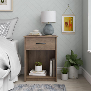 Mainstays Classic Nightstand with Drawer, Rustic Oak