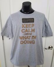 Lotus F1 Team Keep Calm I Know What Im Doing Gray T Shirt 2XL XXL Rare