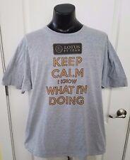 Lotus F1 Team Keep Calm I Know What Im Doing Gray T Shirt 2XL XXL Rare