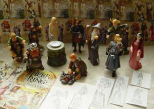 Rare lot série Kinder seigneur des anneaux complète 10 figurines + tous les BPZ