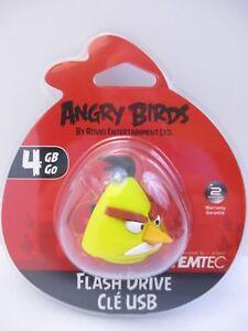 "EMTEC - 4 GB USB 2.0 FLASH DRIVE - ANGRY BIRDS ""YELLOW BIRD"" - NEW UNOPENED"