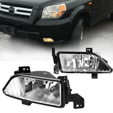 for 2006 2007 2008 Honda Pilot Clear Lens Fog Lights Front Bumper Driving Lamps