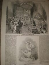 The President's Hall Elsyee Nationale Paris France 1849 print and article