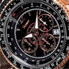 STAUER Midnight FLYBOY 1916  Watch (Black Face) - BRAND NEW!  FAST SHIPPING!