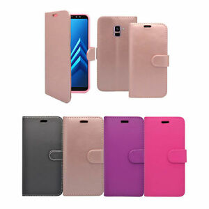 For Samsung Galaxy J6 2018 Phone Case Flip PU Leather Cover Book Stand Wallet
