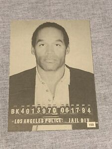 OJ Simpson Nicole Brown Card Mug Shot Los Angeles LA Police The Juice Orenthal