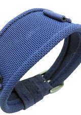 14mm Nylon Mesh Woven/Fabric Blue one-piece Cuff Watchband / Watch Strap