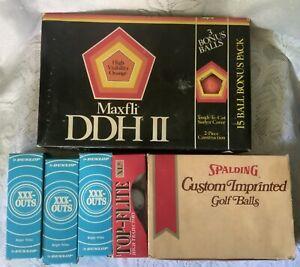 GOLF BALLS Maxfli DDH II SPALDING Custom Imprinted TOP FLITE XLII DUNLOP XXX OUT