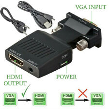 VGA to HDMI Adapter Audio Cable Male VGA to Female HDMI Converter Laptop to TV