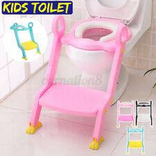 Kids Non Slip Toilet Soft Seat Ladder Toddler Potty Training Step Trainer Safety