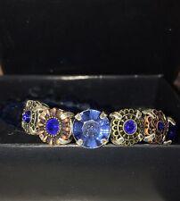 Avon Mix & Stack Beaded Stretch Bracelet NIB Blue New