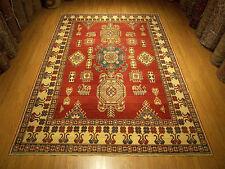 8  x 11 Handmade Hand Knotted Afghan Kazak Rug _Vegetable Dyes Fine Wool