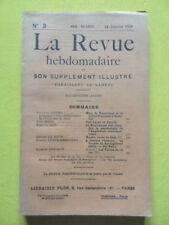 La Revue Hebdomadaire 1908 n° 3 Paul Adam Egypte Edouard Rod Gui Patin