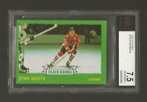 1973-74 Topps Stan Mikita #145 BVG 7.5 NR-MINT+ BEAUTY OF THE HALL OF FAMER!!