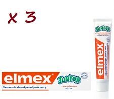 3 x Elmex Toothpaste Junior  6-12 years 75 ml  BUY MORE PAY LESS!!!