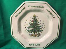 NIKKO Christmastime Tree Serving Tray 1998 30th Anniversary Celebration Plate