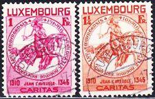 LUXEMBOURG SEMI-POSTAL #B63, B64 USED