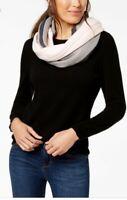 Calvin Klein Color block Stripe Infinity Loop Scarf Light Pink & Gray $48