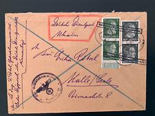 Brief Deutsche Dienstpost Ukraine 1942 Gebietskommissar nach Halle