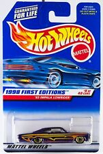 Hot Wheels 1998 First Editions #8 '65 Impala Lowrider #635 New On Card
