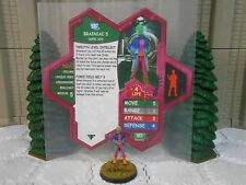 Heroscape Custom Brainiac 5 Double Sided Card & Figure w/ Sleeve DC