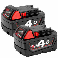Milwaukee M18B4 véritable 18 V M18 Carburant Rouge Batterie Lithium-Ion 4.0Ah Twin Pack