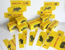 DINKY Military 623 626 641 670 673 674 676 686 Box Card Prints *NOW 8 boxes*
