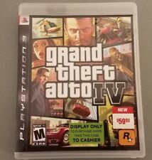 Grand Theft Auto IV GTA 4 Sony PS3 Disc & Case (Rare Display take to cashier!)