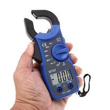Numérique pince multimètre DC voltmètre ampèremètre Ohmmètre Volt Tester Bleu DC