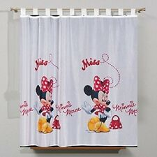 Luxury Disney Minnie Mousse Red Net Curtain Tab top 75Cm X 157Cm