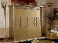 Wardrobe Wardrobe Baroque Rococo Wood Wall Cabinet Bedroom Real Wood New