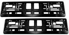 2x (Satz) Kennzeichenhalter Nummernschildhalter schwarz NEU Vollumrandung SEEAS