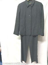 Banana Republic Gray Silk Pant Suit Womens Size 6