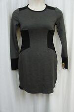 Rachel Roy Dress Sz M Black Charcoal Heather Grey Long Sleeve Sweater Dress