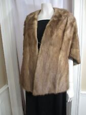 Vtg Mink Fur Label Authority CHERRY & WEBB Draped Stole Cape Shrug Bolero Shawl