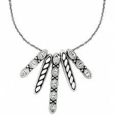 NWT Brighton QUINTET Swarovski Crystal Five Pendant Necklace MSRP 50