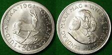South Africa Crown / 50 cents dated 1961, 0.500 Silver, excellent condition