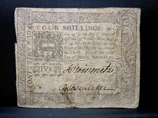 Colonial Currency ✪ Pennsylvania March 20Th 1773 ✪ Fr Pa-159 4S ◢Trusted◣