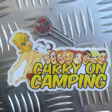 carry on camping car sticker 120 x 70mm vw camper van bongo