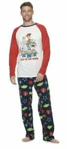 Disney / Pixar NWT Mens Toy Story 4 Christmas Pajamas Lounge Set M L $50