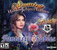 FANTASTIC FABLES Amazing Hidden Object Games 5 PACK PC Game NEW