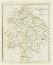 1793 Original Antique MAP of 'WARWICKSHIRE' by John Cary (CM2/36)