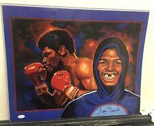16x20 Leon Spinks signed print JSA auto Boxing