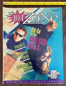 "Rare GOO GOO DOOLS OCT 1999 Cover Story KRBE FM Houston ""104 Zone"" Magazine HTF"