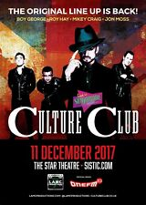 CULTURE CLUB 2017 SINGAPORE CONCERT TOUR POSTER - Boy George / New Wave Music