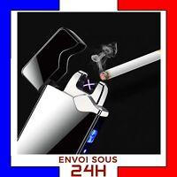 Briquet Arc Electrique USB Tempete plasma rechargeable coupe vent sans gaz Noir